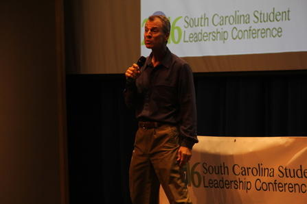Chad Foster was the guest speaker for Greenwood's first South Carolina Leadership Conference Wednesday morning at Lander University.
