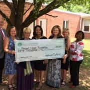 From left are: Jeff Smith, GCCF president; Mary Woodiwiss, GCCF projects and grants manager, Lisa Lane, Project Hope co-executive director; Mamie Nicholson, GCCF board member; Susan Sachs, Project Hope co-executive director; Martha Barnette, GCCF board member; and Amaryllis Turman, GCCF board member.